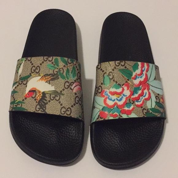 49f7de1e744 Gucci Shoes - Gorgeous! Gucci Blooms Tian Slides